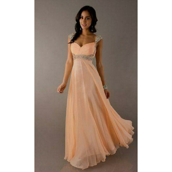3467d251205 Dave   Johnny Dresses   Skirts - Cap Sleeve Long Prom Dress by Dave ...